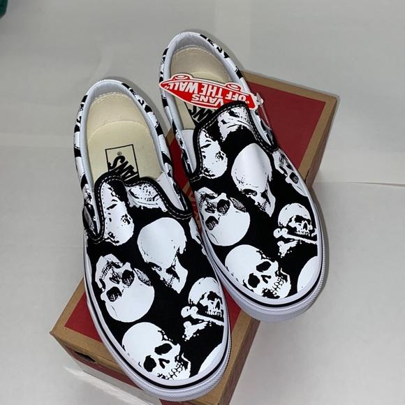 Vans Shoes   New Vans Skulls Slip On Shoes W8 M65 385   Poshmark